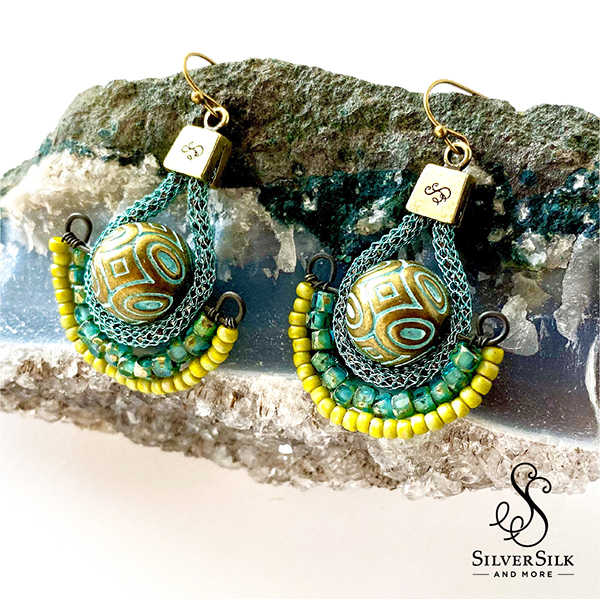 SilverSilk Egyptian Earrings by Nealay Patel