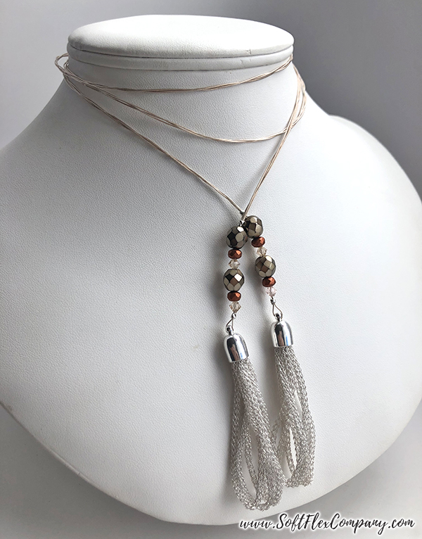 SilverSilk Hollow Mesh and Soft Flex Beading Wire Necklace by Nealay Patel