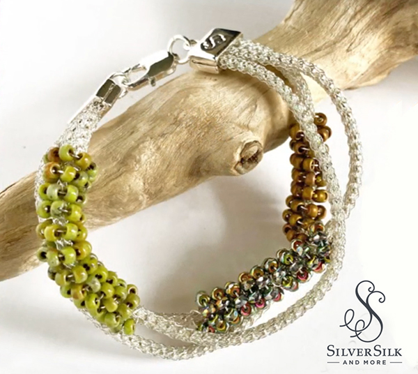 SilverSilk Seed Bead Wrap Bracelet by Nealay Patel