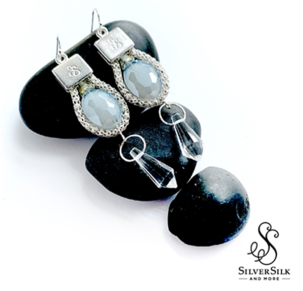 SilverSilk Snow Queen Earrings by Nealay Patel