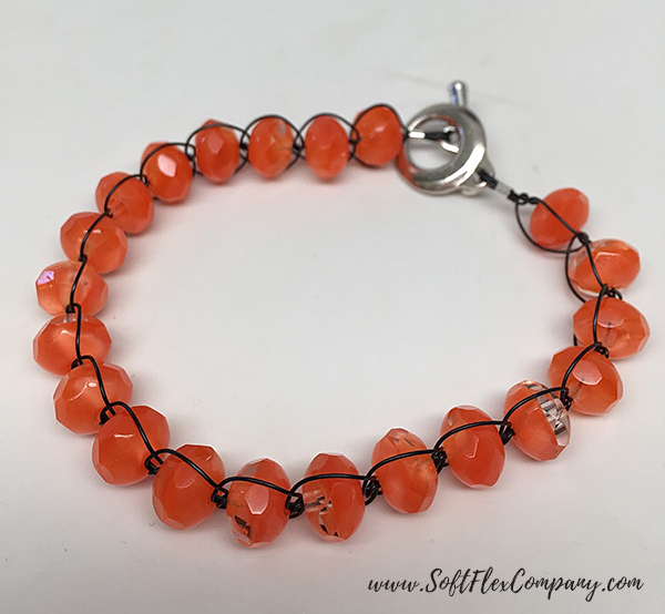 Knotted Soft Flex Beading Wire And Beads Bracelet by Sara Oehler