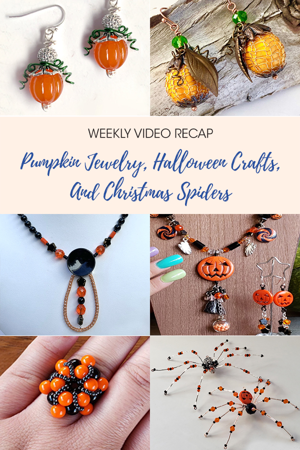 Pumpkin Jewelry, Halloween Crafts, And Christmas Spiders