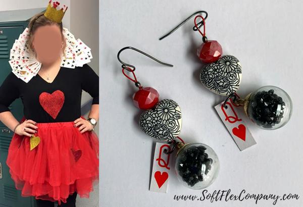 Queen Of Hearts Costume & Queen Of Hearts Earrings