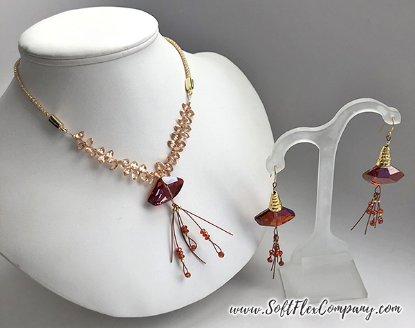 Soft Flex Hollow Mesh Necklace by Nealay Patel and Soft Flex Beading Wire and Cone Earrings by Sara Oehler