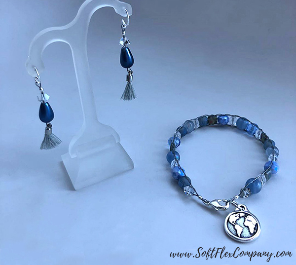 April Showers Bracelet and Earrings by Sara Oehler