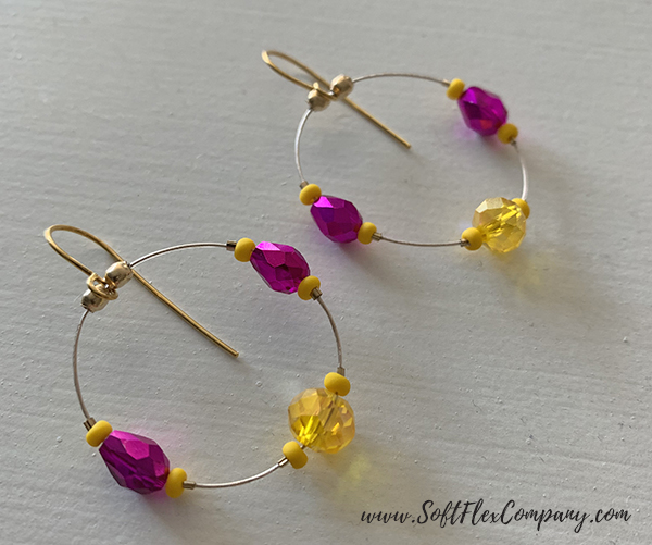 Colorful Soft Flex Micro Crimp Earrings by Sara Oehler