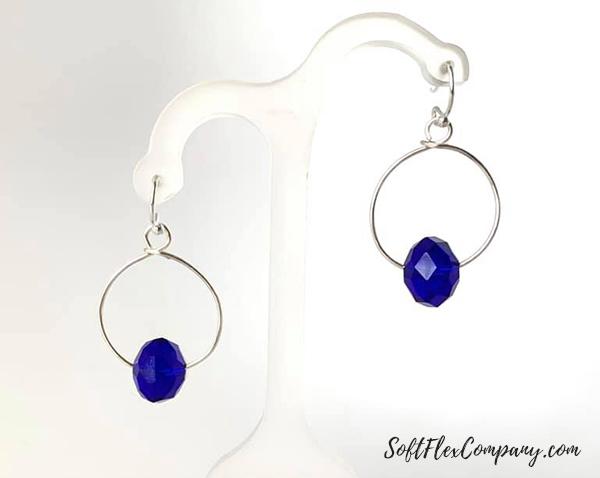 Soft Flex Craft Wire Hoop Earrings by Sara Oehler