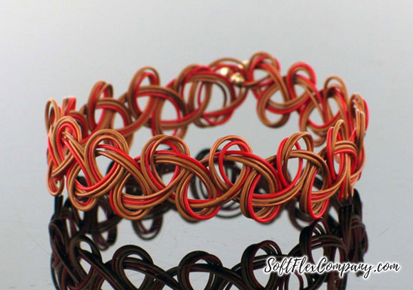 Copper, Red and Butterscotch Friendship Bracelet by Sara Oehler