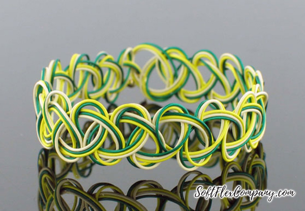 Yellow, Green and Bone Friendship Bracelet by Sara Oehler