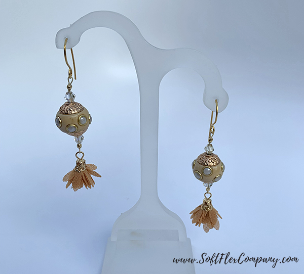 Golden Gate Fall Earrings by Sara Oehler