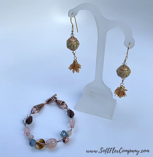 Golden Gate Fall Bracelet and Earrings by Sara Oehler