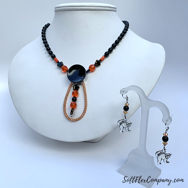 Great Pumpkin Necklace and Earrings by Sara Oehler