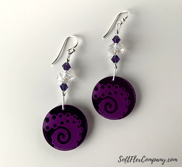 Jesse James Beads Design Challenge Earrings by Sara Oehler