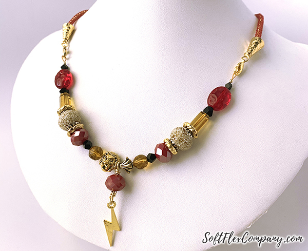 Jesse James Beads Gryffindor Necklace by Sara Oehler