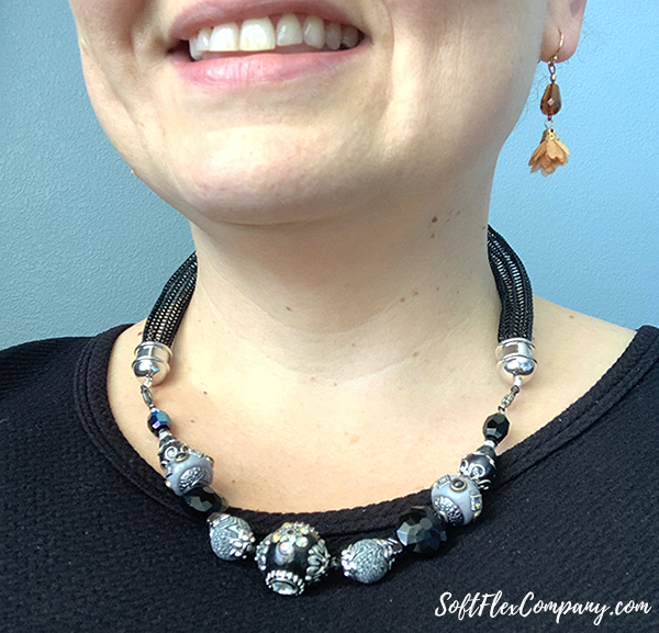 Black Knitted Hocus Pocus Necklace by Sara Oehler