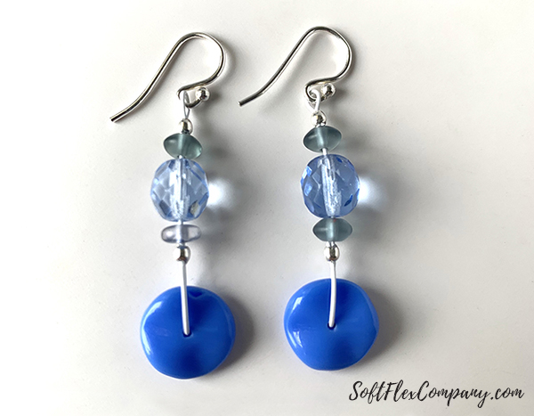 Pantone Classic Blue Earrings by Sara Oehler