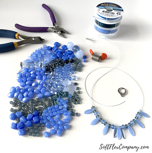 Pantone Classic Blue Necklace by Sara Oehler