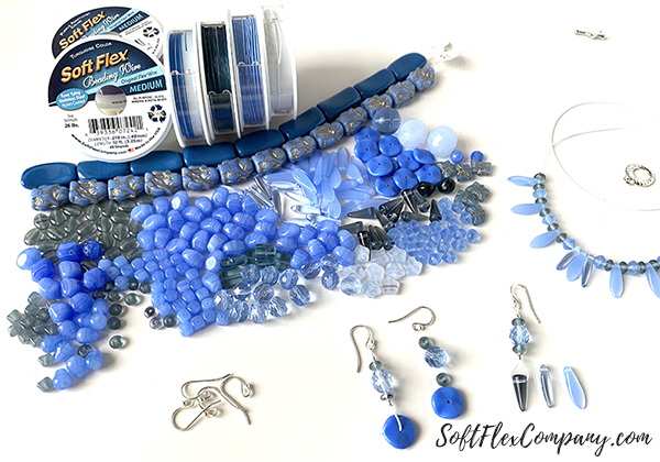Pantone Classic Blue Necklace and Earrings by Sara Oehler