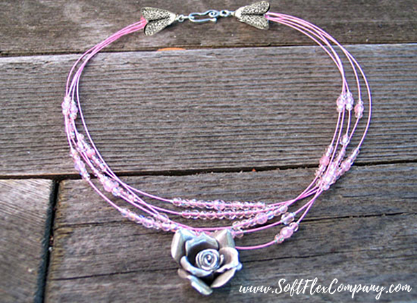 Pretty In Pink Necklace by Sara Oehler