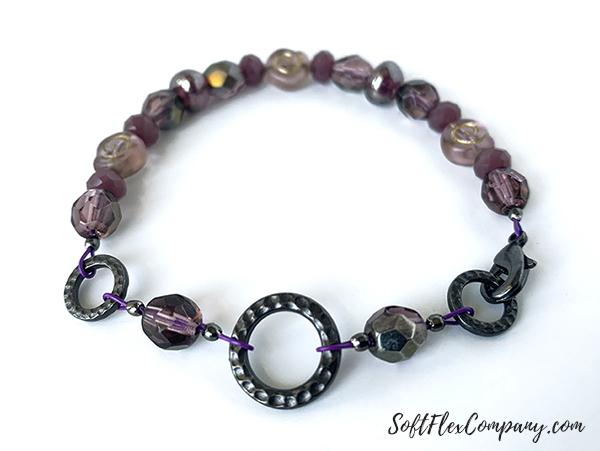 Purple Polka Dot Bracelet by Sara Oehler
