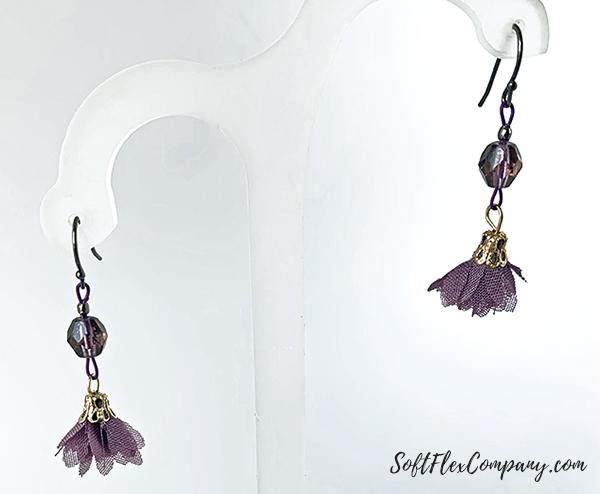 Purple Polka Dot Earrings by Sara Oehler