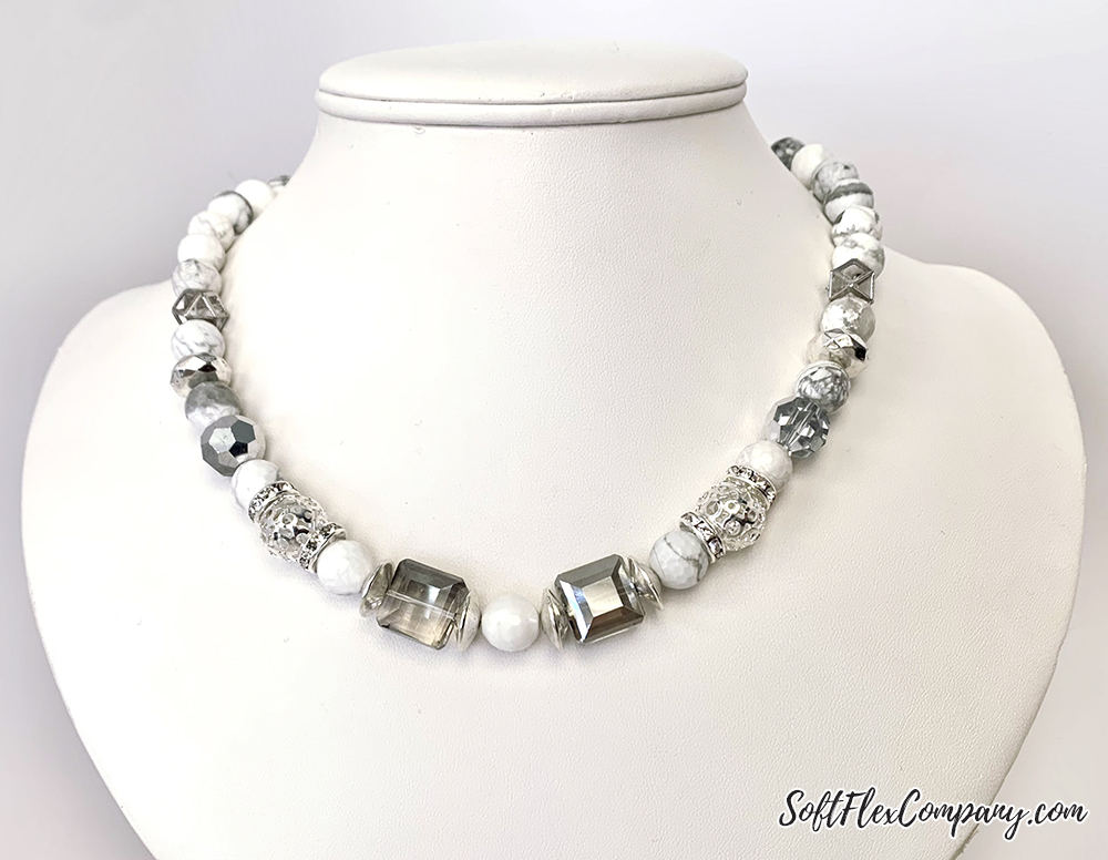 Silver & Howlite Necklace by Sara Oehler