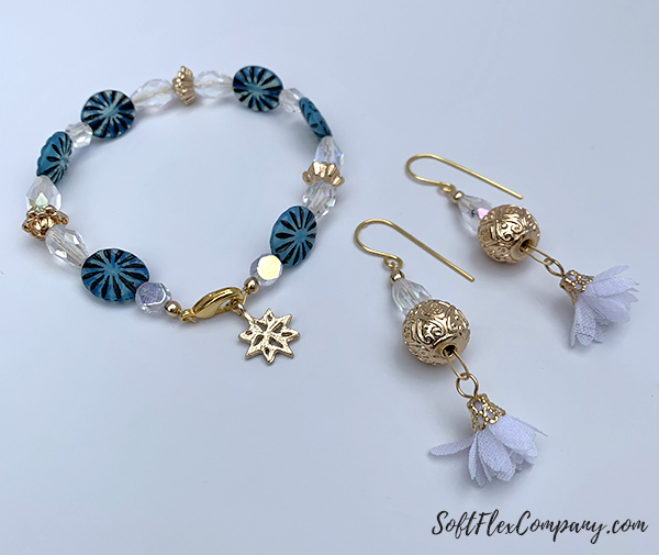 Snow Queen Bracelet and Earrings by Sara Oehler