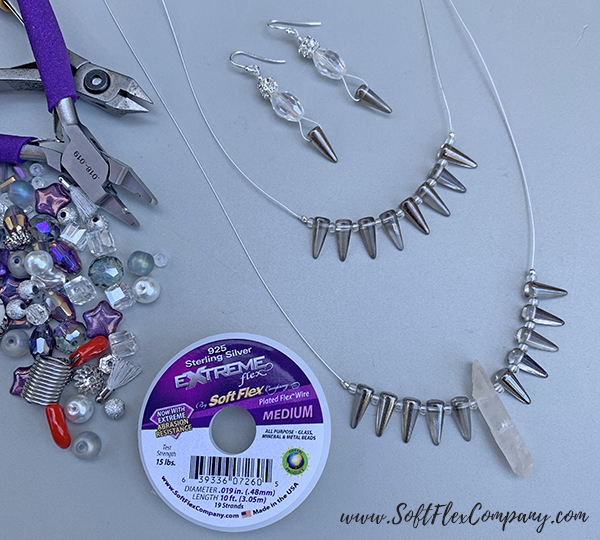 Unicorn Sparkles Necklace and Earrings by Sara Oehler