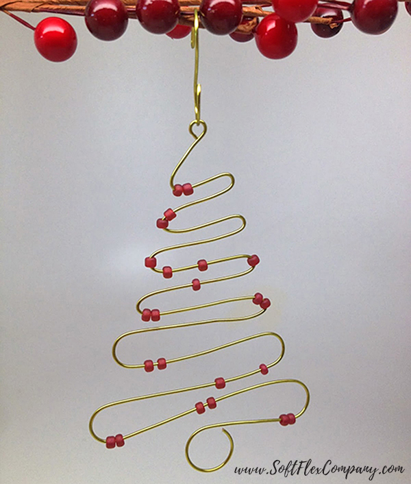 Wire Christmas Tree Ornament by Sara Oehler