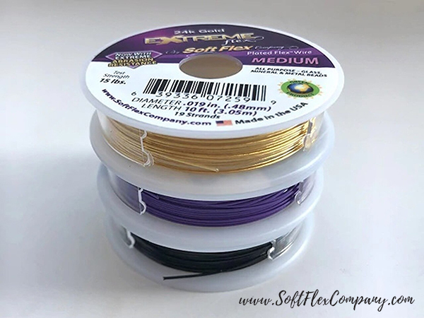 Soft Flex Purple Rain Trios Beading Wire Pack