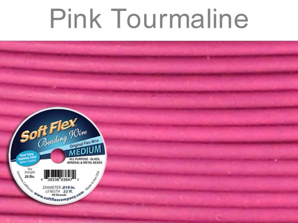 Soft Flex Beading Wire in Pink Tourmaline Color