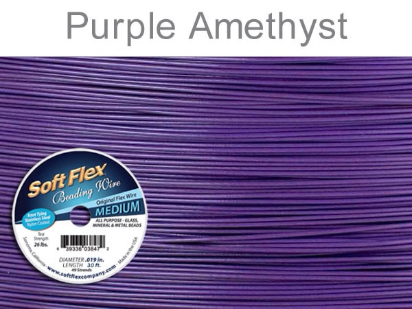 Soft Flex Beading Wire in Purple Amethyst Color