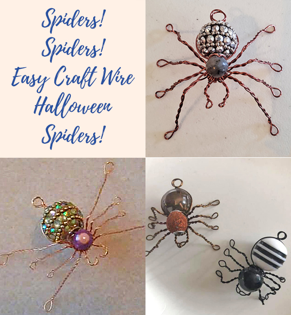 Spiders! Spiders! Easy Craft Wire Halloween Spiders!