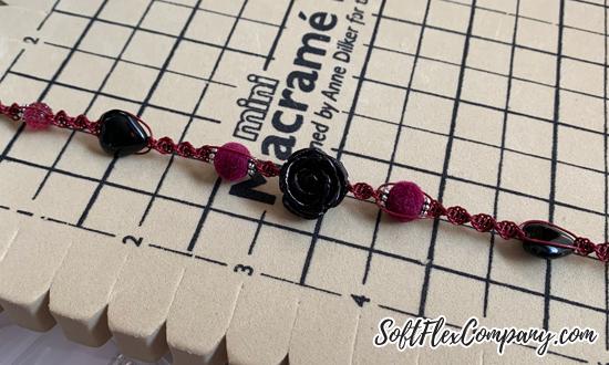 Dark Heart Macrame Bracelet by Kristen Fagan
