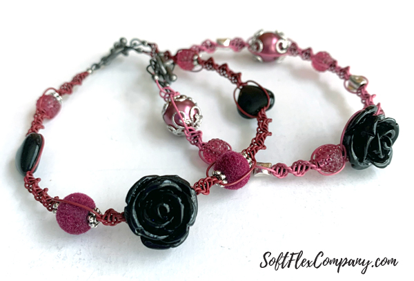 Dark Heart Macrame Bracelet by Kristen Fagan