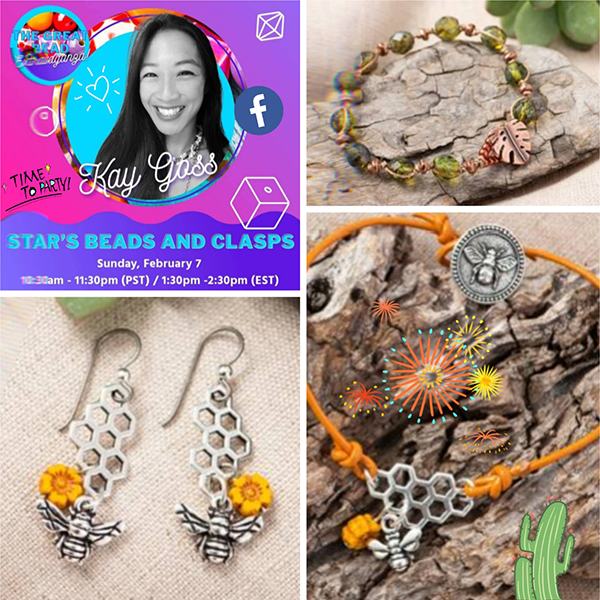 The Great Bead Extravaganza Jewelry by Kay Goss of Star's Beads and Clasps