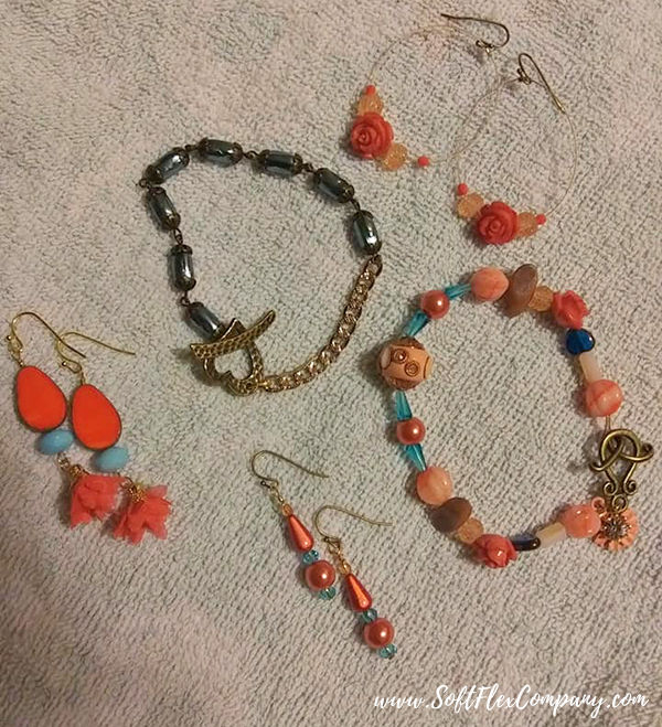Shades Of Coral Jewelry by Sue Pell
