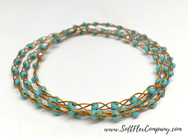 Pro Econoflex Gold and Seed Bead Braided Bracelet by Kristen Fagan