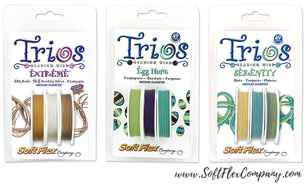 Soft Flex Trios Extreme, EggHunt and Serenity Beading Wire Packs