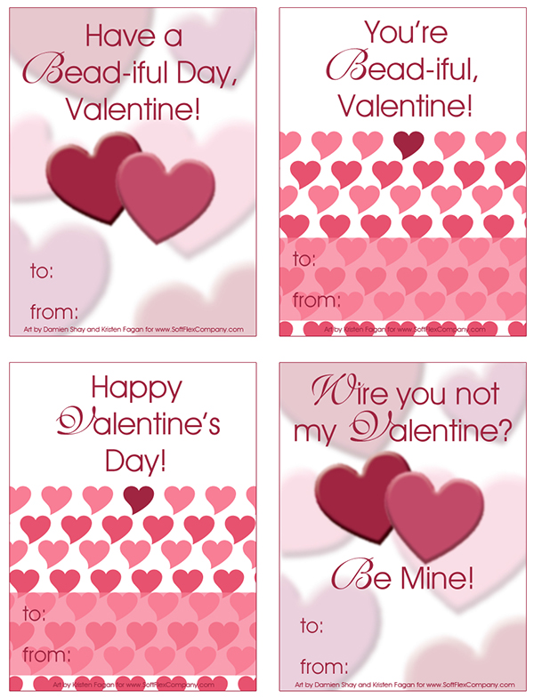 Printable Soft Flex Valentine Cards