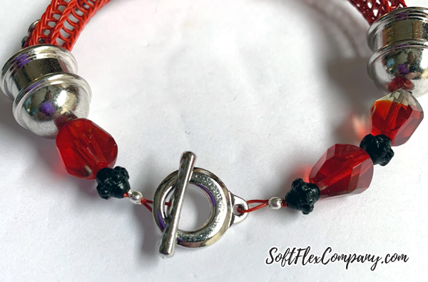 Soft Flex Wire Knitted Charm Bracelet by Kristen Fagan