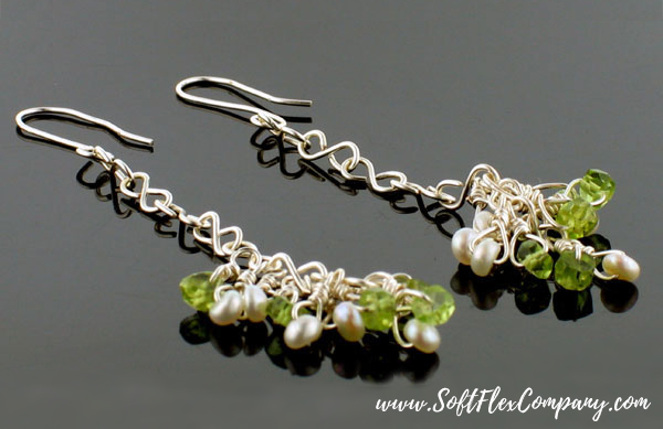 Pearls and Peridot Earrings by Virginia Magdaleno
