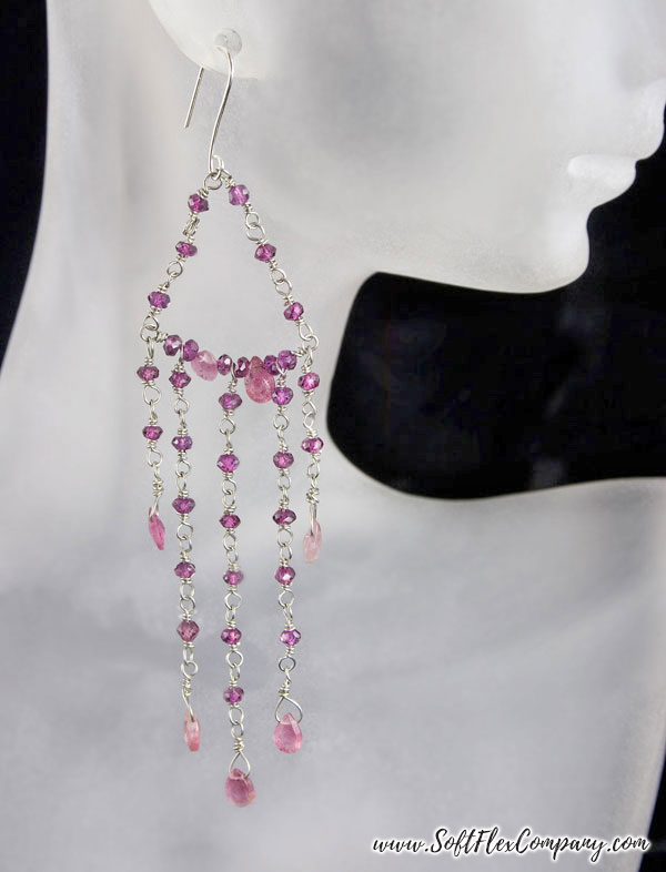 Pink Tourmaline Dangle Earrings by Virginia Magdaleno