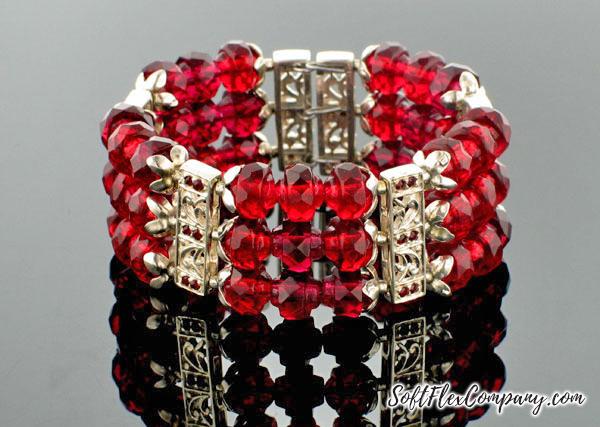 Scarlet Cuff Bracelet by Virginia Magdaleno