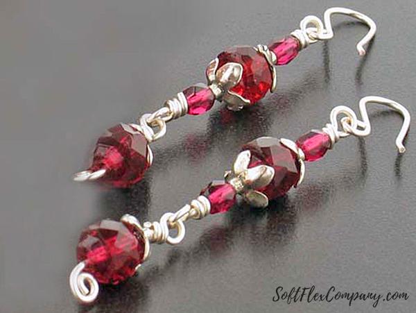 Scarlet Earrings by Virginia Magdaleno