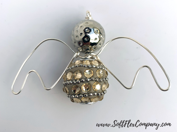 Christmas Angel Wire Pendant Or Ornament by Sara Oehler